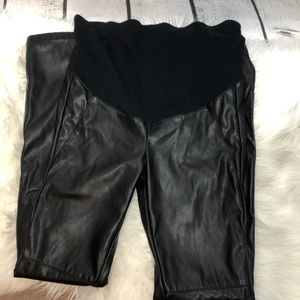 H & M Mama Maternite faux leather leggings 4
